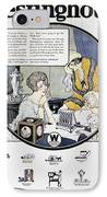 Westinghouse Ad, 1924 IPhone Case by Granger