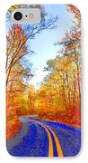 Where The Road Snakes IPhone Case by Douglas Barnard