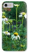 White Daisies And Garden Flowers IPhone Case