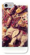 White Elephant IPhone Case by Garry Gay