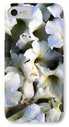 White Flowers At Dusk IPhone Case