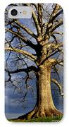 White Oak And Storm Clouds IPhone Case by Thomas R Fletcher