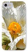 White Paper Flower IPhone Case by Artist and Photographer Laura Wrede