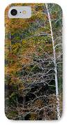 White Tree Fall Colors  IPhone Case