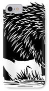 Wild Boar, Woodcut IPhone Case