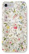 Wild Flowers Design For Silk Material IPhone Case by William Kilburn
