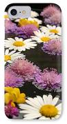 Wildflowers On Water IPhone Case by Emanuel Tanjala