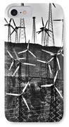 Windmills By Tehachapi  IPhone Case by Susanne Van Hulst