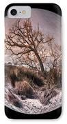 Windswept At Driftwood Beach II IPhone Case by Debra and Dave Vanderlaan