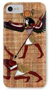 Winged Horus Defeating Set IPhone Case by Pet Serrano