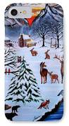 Winter Gathering IPhone Case by Adele Moscaritolo