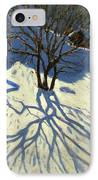 Winter Hillside Morzine France IPhone Case by Andrew Macara