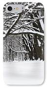 Winter Park With Snow Covered Trees IPhone Case by Elena Elisseeva
