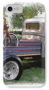 Wizzer Cycle At The Hot Rod Show IPhone Case by Steve McKinzie