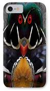 Wood Owl IPhone Case