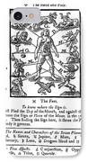 Woodcut, 1750 IPhone Case by Science Source