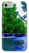 Wooded Waterfall IPhone Case by Bill Cannon