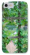 Wooden Trellis And Vines IPhone Case by Nancy Mueller