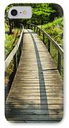 Wooden Walkway Through Forest IPhone Case