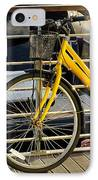 Yellow Bicycle IPhone Case by Carlos Caetano