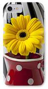 Yellow Mum In Pitcher  IPhone Case