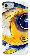 Yellow Study Fish IPhone Case by J Vincent Scarpace