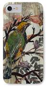Green-yellow Bird IPhone Case
