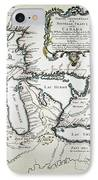 Great Lakes Map, 1755 IPhone Case by Granger