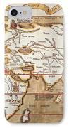 Waldseemuller: World Map IPhone Case by Granger