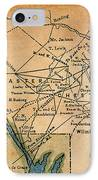 Underground Railroad Map IPhone Case by Granger