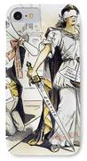 Justice Cartoon IPhone Case by Granger