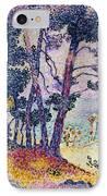 A Pine Grove IPhone Case by Henri-Edmond Cross