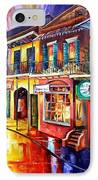 Bourbon Street Red IPhone Case by Diane Millsap