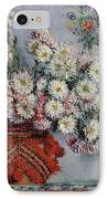 Chrysanthemums IPhone Case by Claude Monet