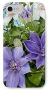 Clematis 2 IPhone Case