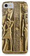 Egyptian Temple Art IPhone Case by Michele Burgess