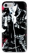 Elvis IPhone Case by Luis Ludzska