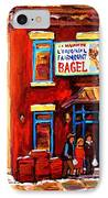 Fairmount Bagel In Winter IPhone Case