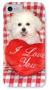 Fifi Loves You IPhone Case by Michael Ledray
