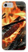 Fire At The Beach IIi IPhone Case by Mariola Bitner