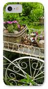 Flower Cart In Garden IPhone Case by Elena Elisseeva