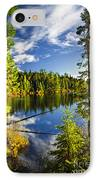Forest And Sky Reflecting In Lake IPhone Case