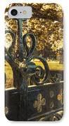 Jackdaw On Church Gates IPhone Case by Amanda Elwell