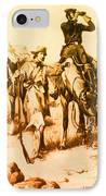 J.c. Fremont And His Guide, Kit Carson IPhone Case by Photo Researchers