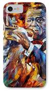 Louis Armstrong IPhone Case by Leonid Afremov