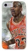 Michael Jordan IPhone Case by Ylli Haruni