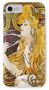 Mucha: Cigarette Papers IPhone Case