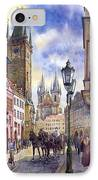 Prague Old Town Square 01 IPhone Case by Yuriy  Shevchuk