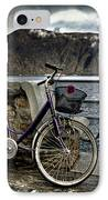 Retro Bike IPhone Case by Joana Kruse