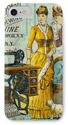 Sewing Machine Ad, C1880 IPhone Case